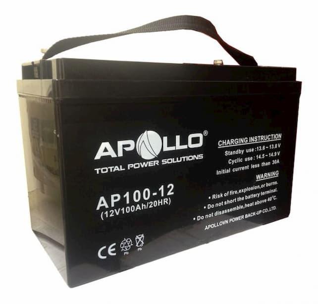 Ắc quy Apollo AP100-12, 12V 100Ah